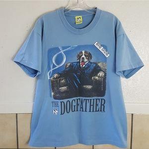 "1990s Big Dog Tshirt ""Dogfather"" Large GUC"